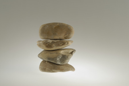stillness: Some stones stacked in equilibrium Stock Photo