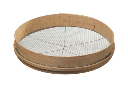sieve: Sieve on white background Stock Photo