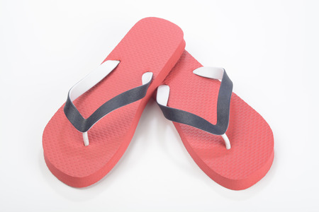 complement: Red Thongs Stock Photo