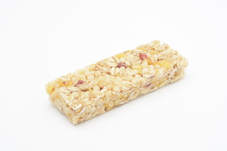 cereal bar: Cereal bar on white background