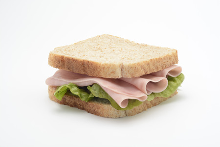 Sandwich of cooked ham