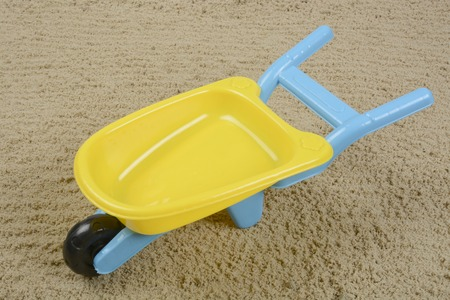 wheelbarrow: Plastic toy wheelbarrow