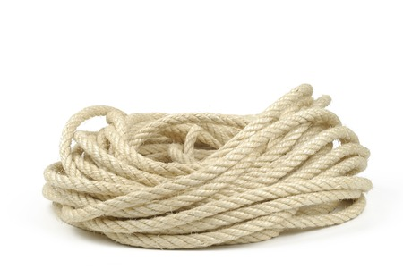 coiled rope Stockfoto