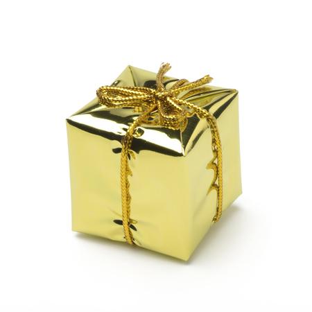 chirstmas: Gift Box fot chirstmas ornaments, golden color