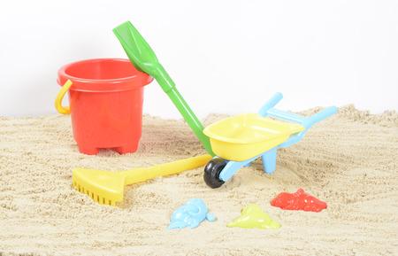 beach toys: Beach Toys in the sand Stock Photo