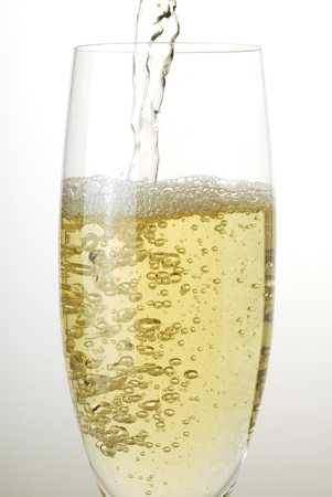 cava: detail of a glass of champagne