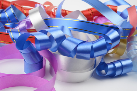 magenta decor: Decorative ribbons for presents several different colors