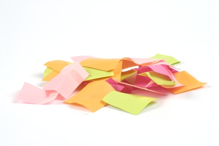 paper for notes of color on white background