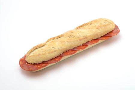 chorizo: Chorizo sandwich on white background