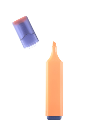 highlighter: Orange highlighter isolated on white background