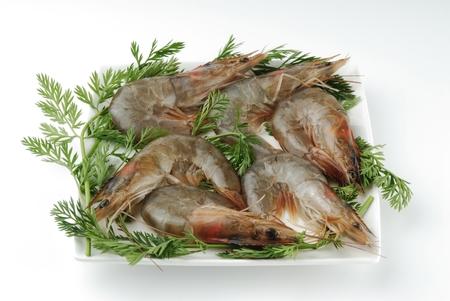 pinky: Raw prawns