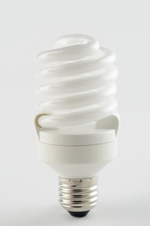 Energy saving light bulb like a spiral