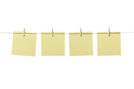 Notes or posit hanging wooden pegs