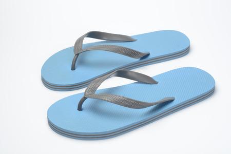 flops: Pair of blue flip flops