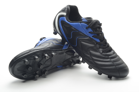 the pair: Pair of football boots Stock Photo