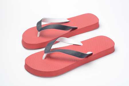Pair of flip flops red