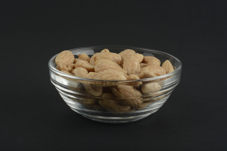 toasted: Toasted almonds in a cristal bowl