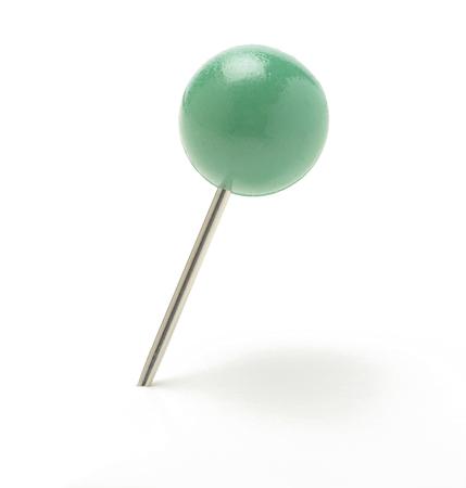 clavados: Pin con cabeza en forma de bola, verde