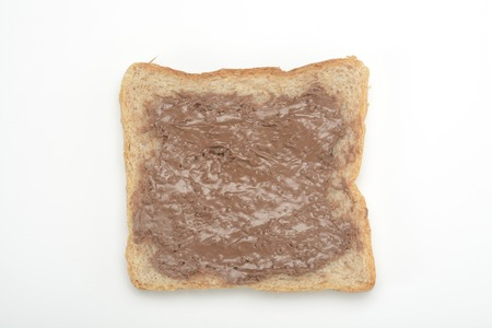 anointed: Toast with chocolate cream Stock Photo
