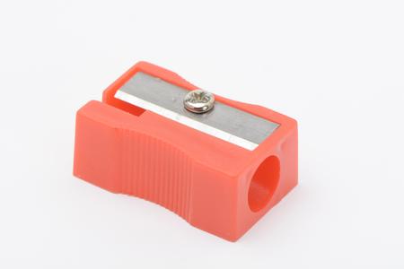 Red sharpener on white background Banco de Imagens - 87479137