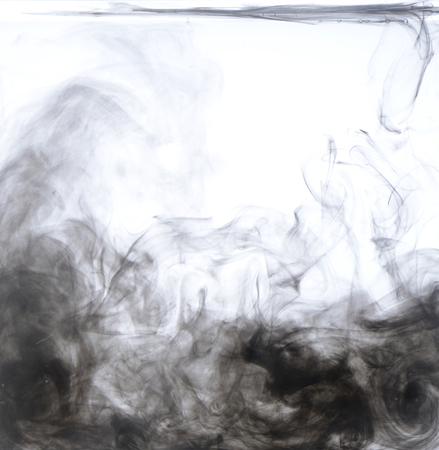 Black ink diluted in water, abstract picture