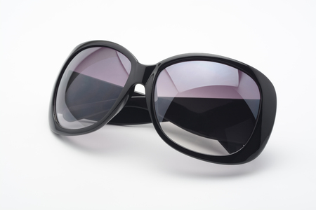 Black woman sunglasses on white background