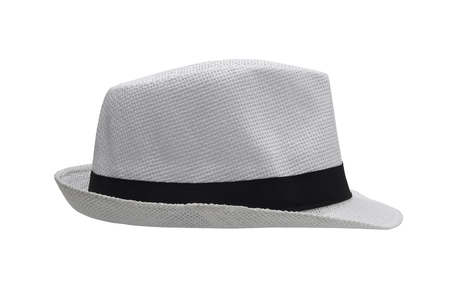 White hat on white background