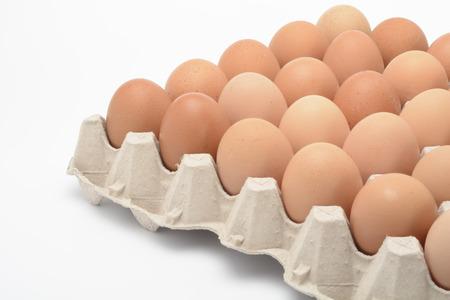 Brown eggs Stock Photo