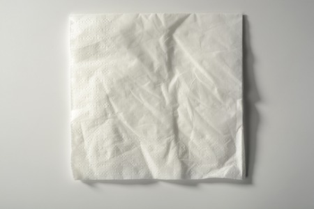 Crumpled paper napkin Stock Photo