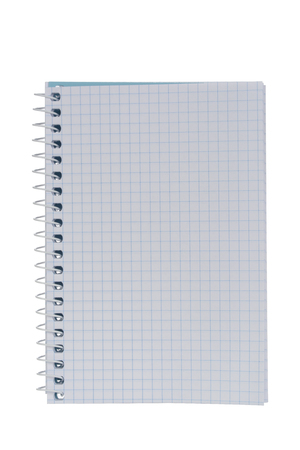 Open notebook or notebook with grid drawing, isolated on white background 写真素材