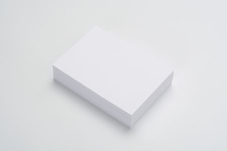 Taco of cards blank for presentations on white background