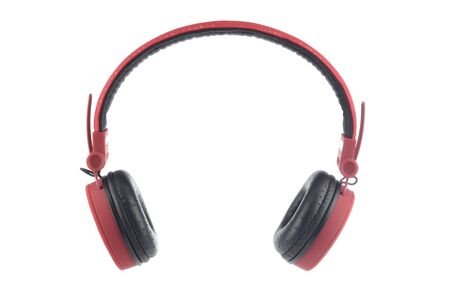 Red headset on white background