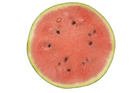 Watermelon, view of the interior on white background