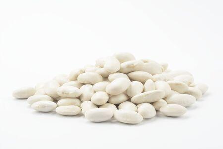 White beans on white background Reklamní fotografie