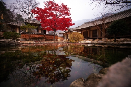 Traditional village in South Korea,Mungyeongsaejae photo