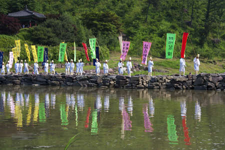 bier festival: Traditional festivals in south korea, traditional funeral,nongdari   Editorial