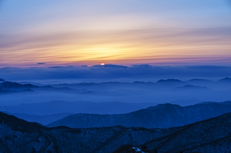 Beautiful winter landscape in south korea, Mt.Deogyusan'' photo