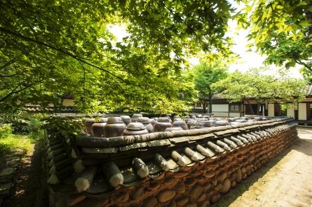 韓国、外村の伝統的な村 写真素材