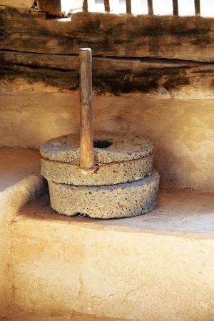 millstone: Traditional tools in south korea,millstone Stock Photo