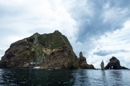 Beautiful Island in South Korea,Dokdo Stock Photo