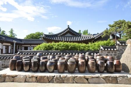 伝統的な村、韓国の韓屋村