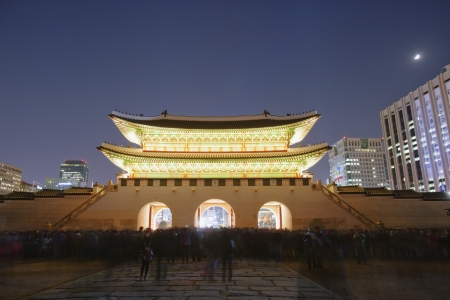ソウル光化門 写真素材