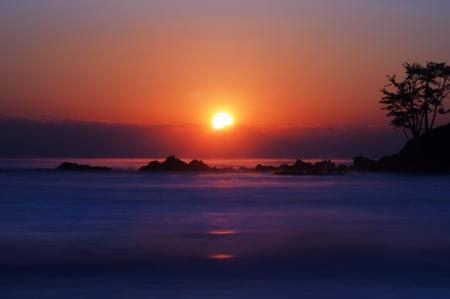 january sunrise: asia, oriental, Corea del Sur Foto de archivo