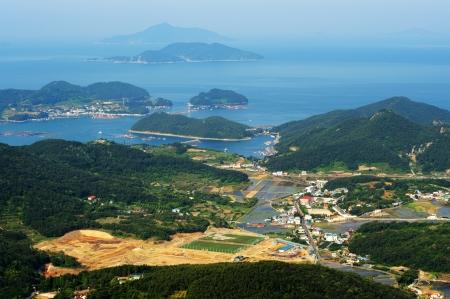 Beautiful  Tongyeong  in South Korea, Mireuksan  Stock Photo