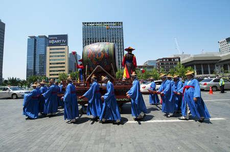 procession: Procesi�n del festival tradicional en Corea del Sur, Se�l