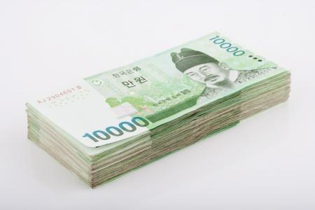 Korea,Money Stock Photo