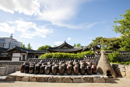 Traditional village in South Korea,HanokVillage photo