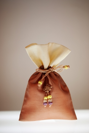 fortunate: Traditional accessory Lucky bag in south korea.Bokjumeoni