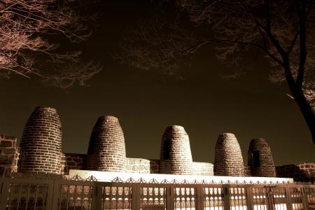amity: Beautiful night view in South Korea,Namsan Park Stock Photo