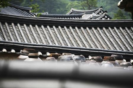韓屋、韓国の伝統的な建築様式 写真素材